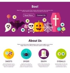 Boo web design template vector