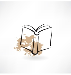 Book grunge icon vector