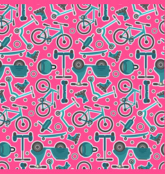bright pink teenager transport pattern vector image