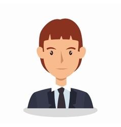 businessman avatar elegant icon vector image
