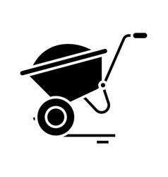 cargo cart black icon concept vector image