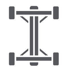 Chassis glyph icon car and part auto shaft sign vector