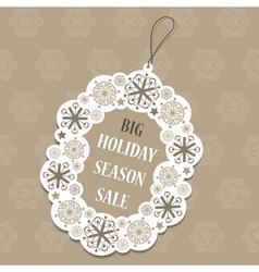 Christmas sale tag vector