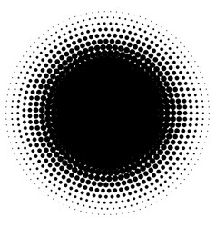circle half tone element over white circular vector image