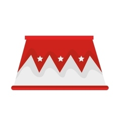 Circus podium isolated icon vector