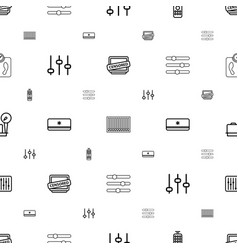 Control icons pattern seamless white background vector