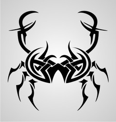 Crab Tribal Tattoo vector image