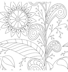 Drawing doddle seamless pattern vector image