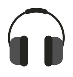 Earphones audio flat style icon vector