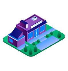 eco street shop icon isometric style vector image
