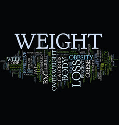 Effective weight loss text background word cloud vector