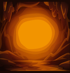fantastic cavern background cartoon cave with vector image
