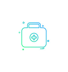 first-aid firstaid medical medicine box icon icon vector image