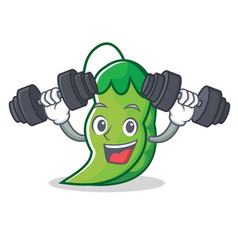Fitness peas character cartoon style vector