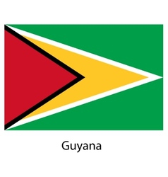 Flag of the country guyana vector image