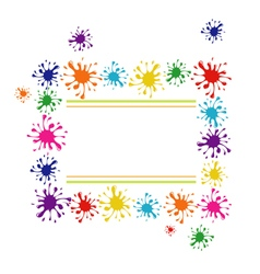 Frame of colorful blots vector image