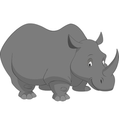 Funny rhino vector image