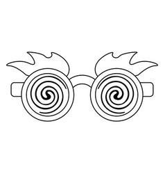 Glasses and eyes brows joke mask in black and vector