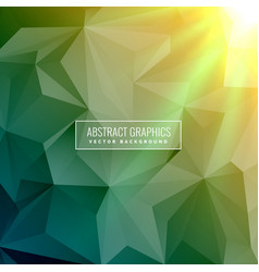 Green abstract background made with low poly vector