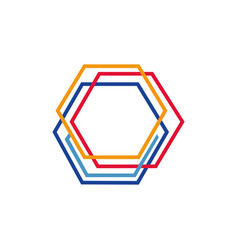 hexagon logo concept vector image
