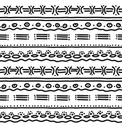 horizontal ethnic pattern vector image