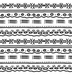 Horizontal ethnic pattern vector