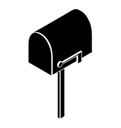 house postbox icon simple style vector image