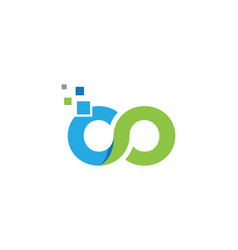 Infinity design infinity logo template vector