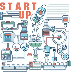Infographics elements concept of Startup vector image