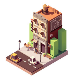 isometric coworking building vector image