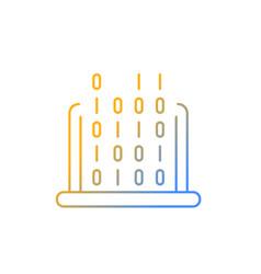 It gradient linear icon vector