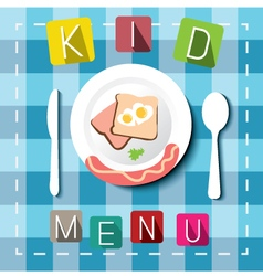 Kids menu cartoon style vector image