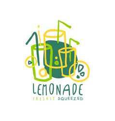 Lemonade original design logo natural healthy vector
