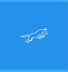 line art mule symbol design vector image