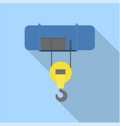 Mobility lift crane icon flat style vector