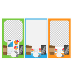modern cover design for social networks vector image