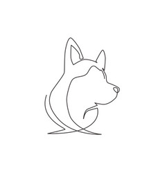 one continuous line drawing simple cute vector image