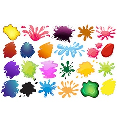 Painting ink splashes vector