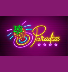 paradise neon sign vector image