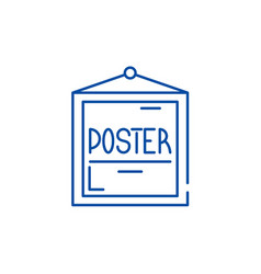 poster line icon concept poster flat vector image