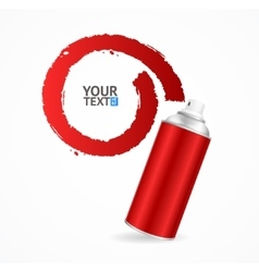 Red Spray Can Write Speech Bubble vector