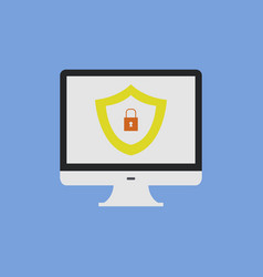 safe pc vector image