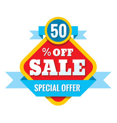 Sale 50 off - concept in flat vector