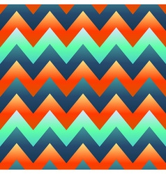 seamless retro Zig zag pattern vector image