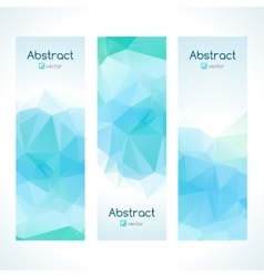 Set of polygonal triangular colorful geometric vector image