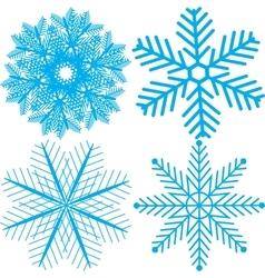 Snowflake icons set vector image