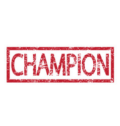 Stamp text champion vector