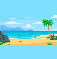 summer beach background sandy seashore sea coast vector image