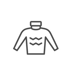 Sweater line icon vector