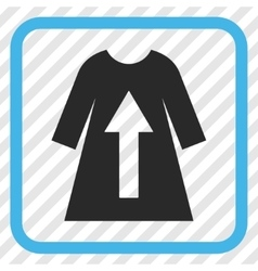 Take Off Female Dress Icon In a Frame vector